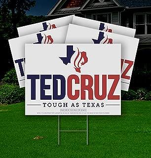 Cruz Yard Signs Ted 10 Pack