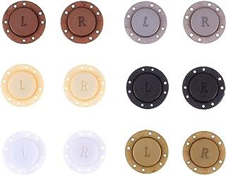 EXCEART 6 Pares Botões Do Casaco Botões de Alta- Grade de Plástico Magnético Ímã Invisível Adequado para Jaqueta Casaco Sa...