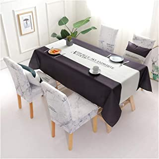 comprar comparacion GUOCU Mantel de Algodón de Lino Rectangular Mantel de Mesa Impermeable Antimanchas Decoración para Cocina Comedor Fiesta M...