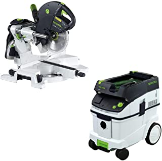 Festool KS 120 Dual Compound Sliding Miter Saw + CT 36 E Dust Extractor Package