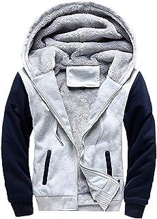 Chunmei Felpa con Cappuccio da Uomo Pullover Giacca Invernale in Pile Caldo con Cerniera Cappotto Pattinaggio gita Cool Sl...