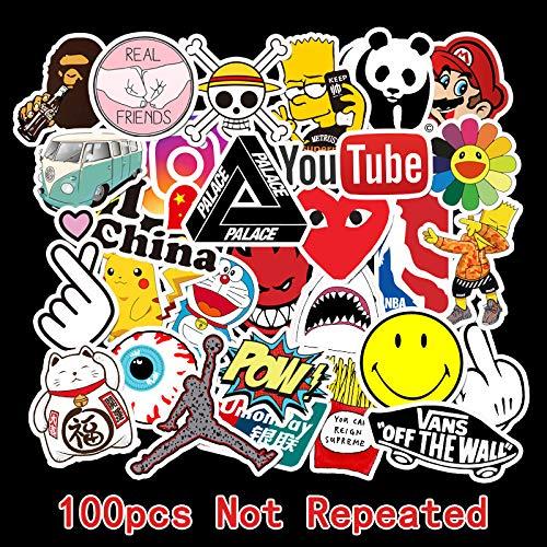 100 Waterproof Transferable Personality Tide Sign Logo Doodle Car Sticker Bike Skateboard Guitar Suitcase Sticker