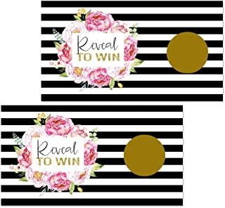 Paper Clever Party Elegant Floral Scratch Off Games (Pack of 28 Cards) Wedding or Baby Shower
