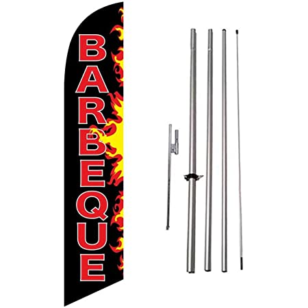 four 4 SOLID WHITE 11.5 WINDLESS SWOOPER FLAGS BANNERS