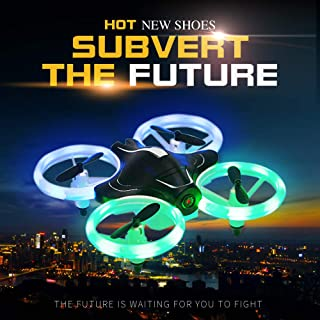 Mini Drones with 2.0MP HD Camera Live Video FPV for Kids and Beginners,RC Quadcopter with LED Lights, App Controlled Drone,3D Flips