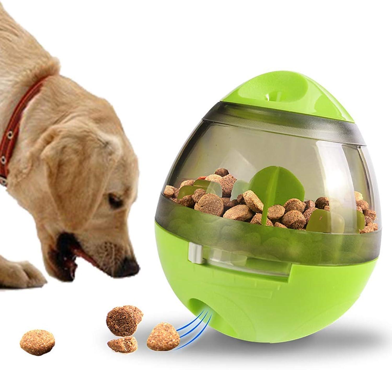 Boxod Dog Toy Treat Ball  Interactive Food Dispenser Ball Toy Small Medium Large Dogs Boredom Puzzle Toys Mental Stimulation Pets TreatDispensing Ball (Green)