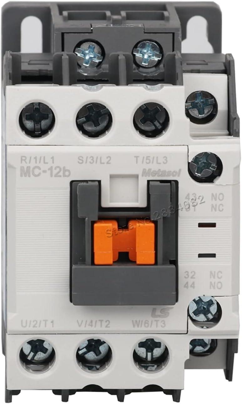 Jgzwlkj Contactor 1 2A AC Contactor con Voltaje de Bobina 380V 220V 110V 48V 36V 24V MC-12B Electromagnetism Contactores (Color : AC110V)