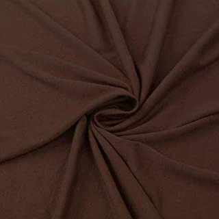 Brown Poly Rayon Spandex Stretch Jersey Knit Fabric by The Yard - 1 Yard