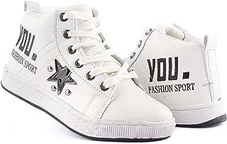 Men's Half Boots Leather Casual (White, numeric_32)