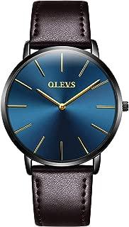 【2019最新型】腕時計 メンズ 極薄型 6.5MM シンプル ファッション カジュアル ビジネス ウオッチ 日本製クォーツムーブメント 40mm文字盤 本革バンド 男女兼用