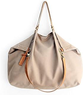 Borsone da viaggio, borsa da viaggio, Weekend bag, borsa in tela IDROREPELLENTE marrone oliva e cuoio. Personalizzata con ...