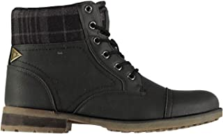 Soviet Mens Merck Boots Rugged Lace Up Leather Upper Print