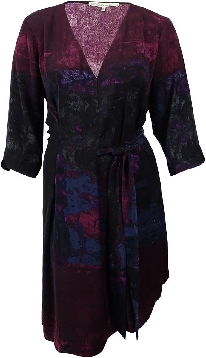 Rachel Rachel Roy Plus Size Asymmetrical Dress (18W, Dark Mulberry Combo)