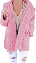 STORTO Womens Teddy Hooded Coat Winter Warm Puffy Jacket with Pocket