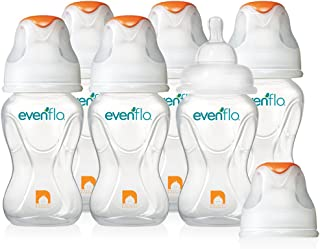 Evenflo Feeding Advanced Widemouth Bottles, 8 Ounce, 6 Pack