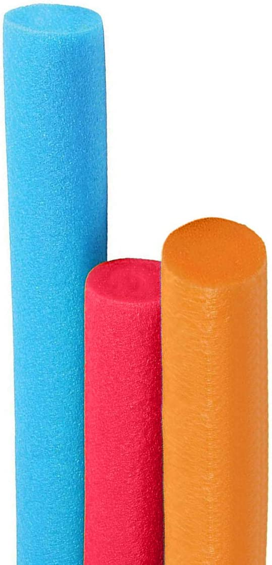 2 Pack Super Thick Noodles for Floating in The Swimming Pool 52 Inches Long Assorted Colors Deluxe Floating Pool Noodles Foam Tube