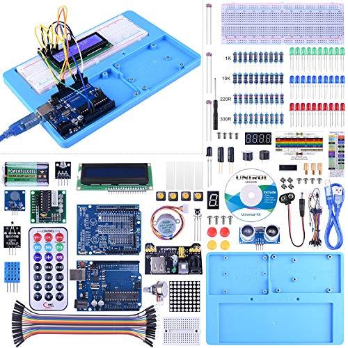 Kit Compatible con ArduinoIDE, UNIROI Kit de Iniciación Completo con Tutorial para Principantes a Aprender Programación (UA005)