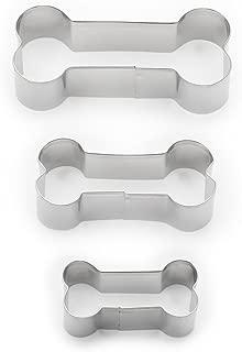 Fox Run 3683 Dog Bone Cookie Cutter Set, Stainless Steel, 3-Piece