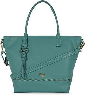 Baggit Spring-Summer 2021 Faux Leather Women's Tote Handbag (Green) (Stormi)