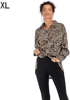 ブラウス レディーズ 長袖トップス ロングスリーブフ女性カジュアルヒョウプリントTシャツレディース長袖ブラウストップ 春秋 服かわいい 日常着 新しい 上着 通勤 通学 オフィス カジュアル デート