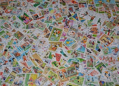 Goldhahn 800 Fußball Briefmarken für Sammler