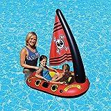 LOY Aufblasbarer Pirat Schwimmende Kinder Pool Sitz Kinder Schwimmendes Boot Sicheres Schwimmbad Spielzeug fr den Sommer Wasserspa