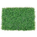 ChenBing Decorazione del Giardino Artificiale Pannelli Artificiale siepe di bosso Mat impianto UV Protected Outdoor Indoor Faux Giardino Decorazioni domestiche 12 Pezzi