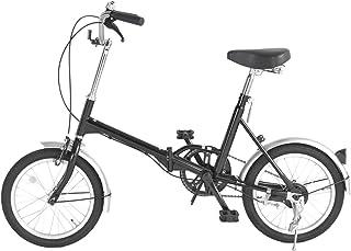タンスのゲン 折りたたみ 自転車 16インチ 軽量 前後泥除け シンプルデザイン コンパクト メーカー1年保証 [CHARIO] ブラック 54700022 00AM 【64179】