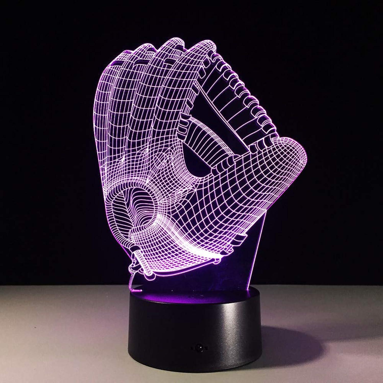 Laofan Handschuhe 3D Led Nachtlicht Mit 7 Farben USB Touch Tischlampe Für Heimtextilien Optische Tuschung Atmosphre Lampe Geschenk,Fernbedienung