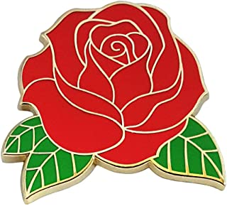 Pinsanity Red Rose Enamel Lapel Pin