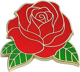 Pinsanity Red Rose Enamel Lapel Pin