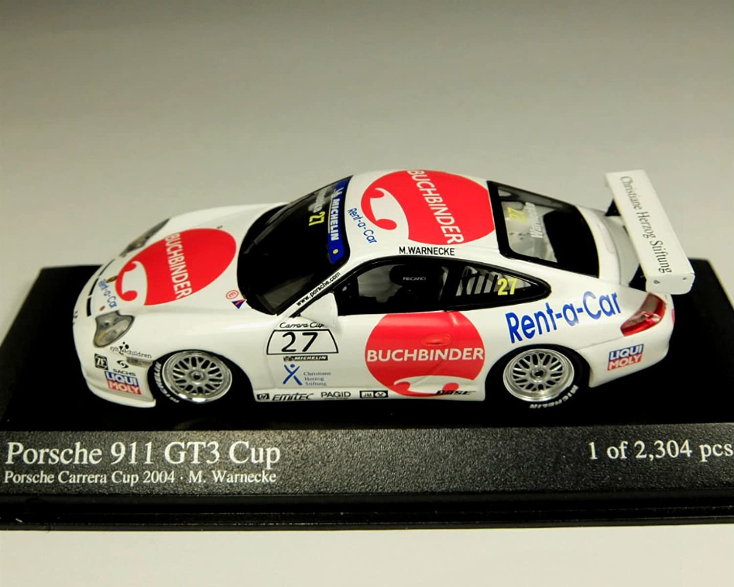 MINICHAMPS PM400046227 PORSCHE 911 GT 3 N.27 2004 1 43 MODELLINO DIE CAST MODEL
