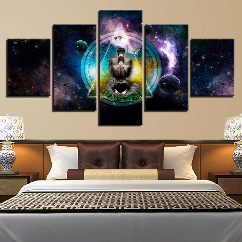 salida YHEGV Impresiones en Lienzo Impresiones en Lienzo Cuadros Arte Arte Arte de la Parojo Marco de la Sala de EEstrella 5 Piezas Pintura Abstracta Decoración para el hogar  alta calidad general