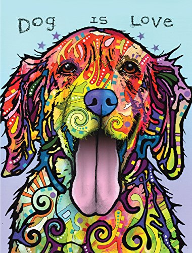 Dean Russo Dog is Love Journal: Lined Journal (Quiet Fox Designs) 144 High-Quality, Acid-Free Lined Pages for a Dream Diary or Journaling, with Vibrant Cover Art from Brooklyn Pop Artist Dean Russo
