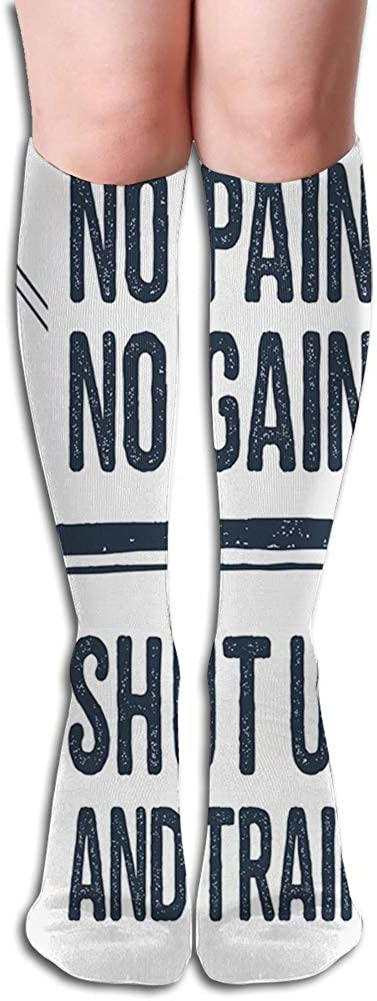 Men's and Women's Funny Casual Combed Cotton Socks,Hand Drawn 90s Themed Symbol with Skateboard Boho Style Arrows Phrase