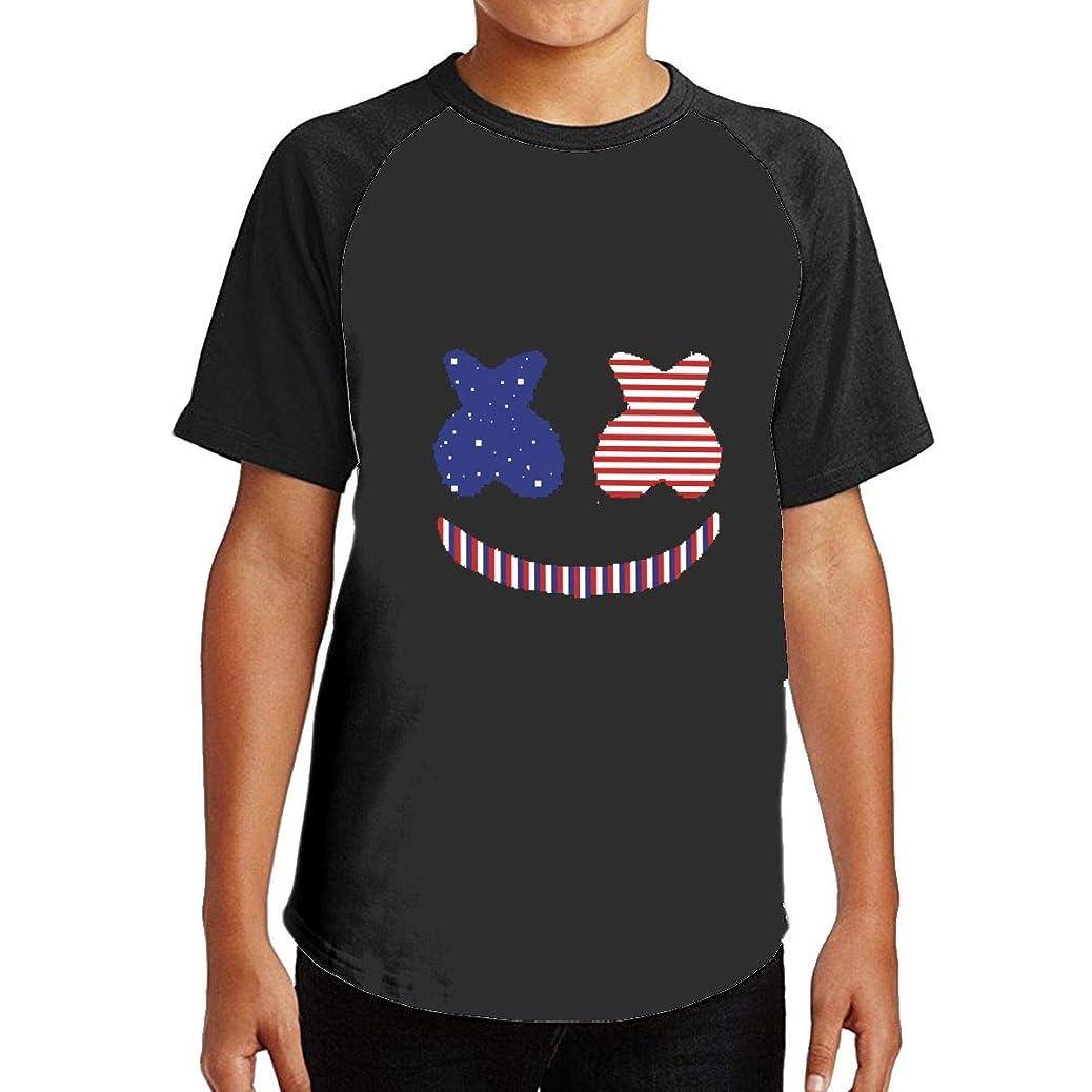 蒸発是正毎日Marshmello 強健だ Tシャツ メンズ ラグラン スポーツ 無地 綿 着心地がいい カジュアル 半袖 コットン クルーネック Tシャツ