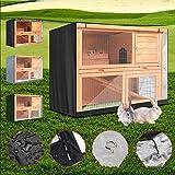 liangh Cubierta De Jardín,210T Poliéster Cubiertas De Muebles,Impermeables Protección A Prueba De Polvo Lona Cubierta De Jaula Conejo Doble Capa De 4 Pies (122 * 50 * 105 Cm),4FT:122x50x105-Black