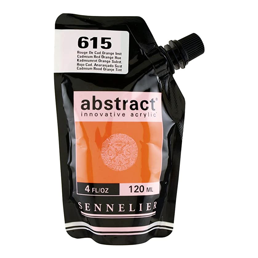 Sennelier Abstract Innovative Heavy Body Acrylic Paint, 120ml Pouch, Cadmium Red Orange Hue