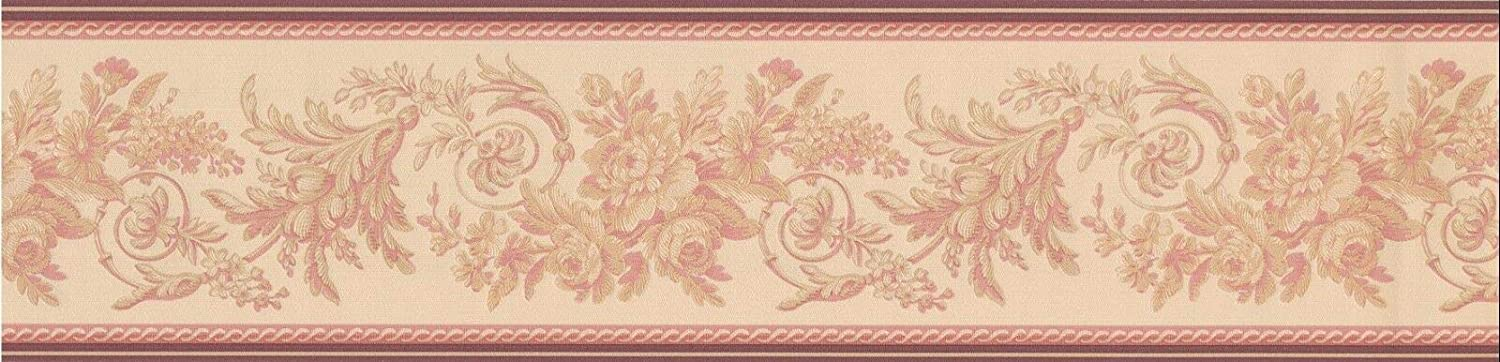 Concord Attention brand Wallcoverings Classic Wallpaper Rosé Featuring Detroit Mall Border