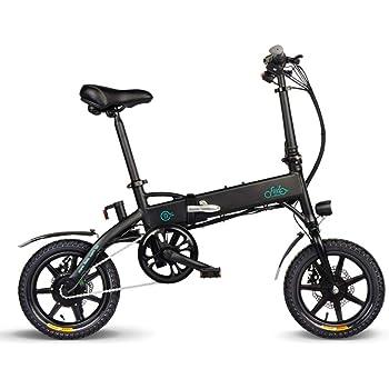 FIIDO D1 Bicicletas Eléctricas para Adultos, 14 Pulgada 250W 36V Bicicleta Eléctrica Plegable con batería de Iones de Litio de 10.4AH para el Trabajo Ciclismo al Aire Libre Viajes y desplazamientos: Amazon.es: