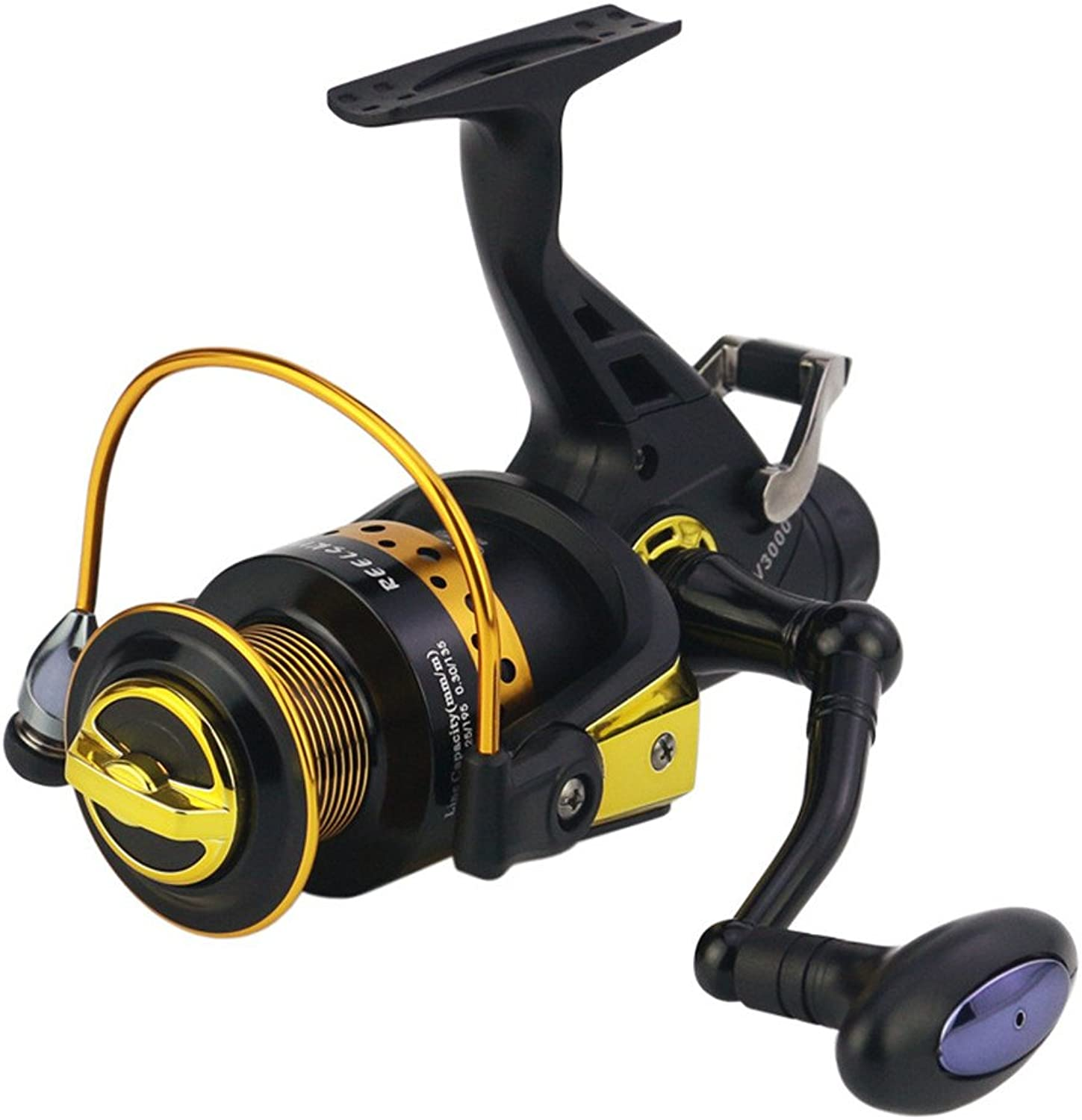 Fishing Reel Spinning Fishing Reel 13+1 Bearings Left Right Interchangeable Handle for Fishing with Double Drag Brake System for Bait Fishing Action (Size   3000)