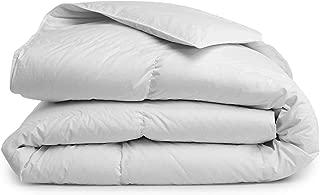 Brooklinen Down Alternative Comforter – 100 Percent Hypoallergenic – 400 Thread Count Cotton Sateen Shell with Baffle Box Construction – Vegan & Allergy Friendly – All Season Warmth – King/Cali King