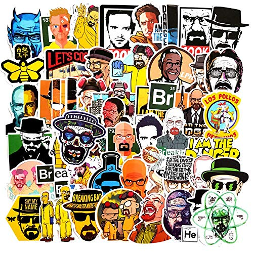 YZFCL TV Show Breaking Bad Stickers DIY Skateboard Guitar Suitcase Freezer Graffiti Luggage Motorcycle Classic Toy Cool Stickers50PCS