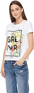 Lee Cooper Slogan T-Shirt for Women - White