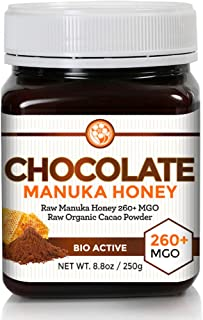 Chocolate Manuka Honey with Organic Cacao | A Healthy Spread and Treat for Adults and Kids | Just Two Pure Ingredients with Nothing Else Added | Raw Unfiltered Manuka Strength MGO 260+ by Good Natured