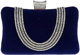KAXIDY Luxus Glitzer Damen Clutch Damentasche Abendtasche Party Hochzeit Handtasche Brauttasche mit Strass