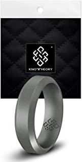 Knot Theory Camo Silicone Wedding Ring Band for Men Women: Superior Non Bulky Rubber Rings - Premium Quality, Style, Safety, Comfort - Ideal Bands for Gym, Safe for Work, Hunting, Sports, and Travels