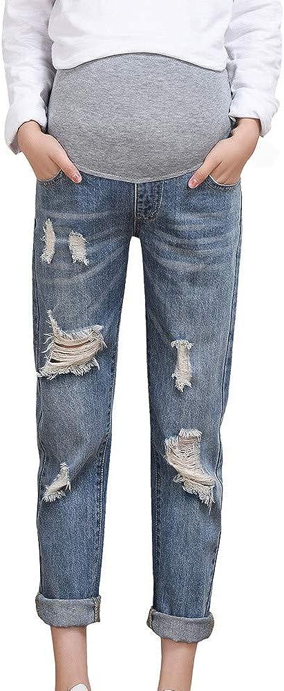 VEKDONE Maternity Jeans Pants for Women Pregnant Pants Legging Pregnancy Nursing Clothes Overalls Ninth Pants New