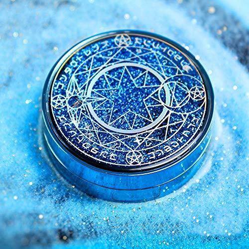 EMRE einfacher und stilvoller Kontaktlinsenbehälter, Magic Array Eye Linsenbehälter, Quicksand Kontaktlinsen-Reise-Etui für Stillen Aufbewahrungsbox tragbar blau