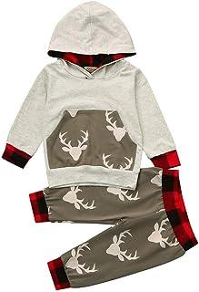8b29788b355e4 LMMVP 2Pcs Ensemble de Vêtements Bébé Garçon Enfant en Bas Age Camouflage à